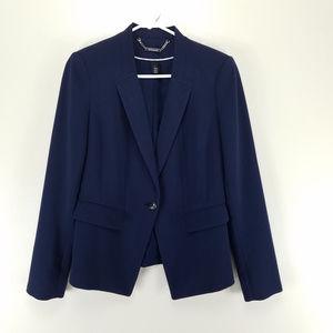 White House Black Market Navy Blue Blazer Size 4